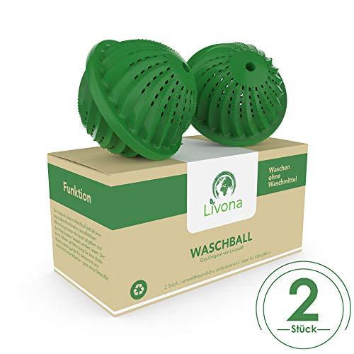 2 x Livona® Waschball [TÜV-GEPRÜFT] - Öko Waschkugel - Waschen ohne Waschmittel - nachhaltig & umweltfreundlich - Vorteilspack - höchste Qualität für Allergiker, Kinder und Umweltbewusste