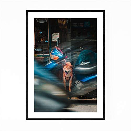 Tainan Print Tainan Wall Art Taiwan Print Taiwan Muur Art Hond Muur Art Hond Print Motorfiets Gift