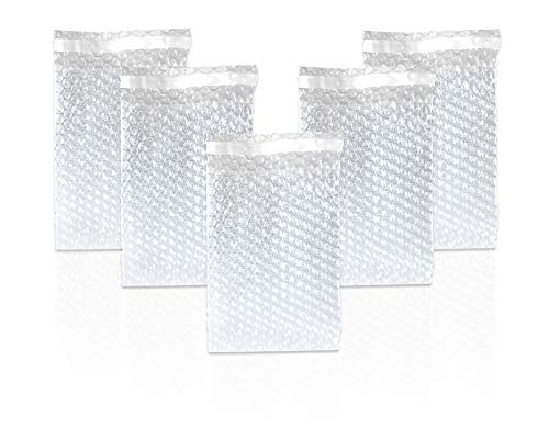 Bubble Out Bags 12 x 15.5 Clear Cushioned Pouches 12 x 15 1/2 by Amiff. Pack of 25 Bubble Pouch Bags. Self-Sealing. Mailing, Shipping, Packing, Packaging, Storage and Moving.