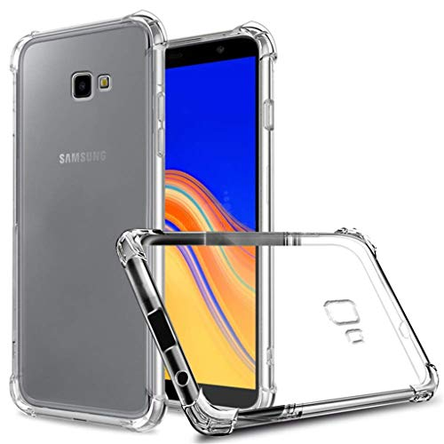LJQUAN Hülle für Samsung Galaxy J4 Core, Transparent Soft TPU Silikon Handyhülle Vier Ecke Kante Stoßdämpfung Design Kratzfest Durchsichtige Schutzhülle für Samsung Galaxy J4 Core -Transparent