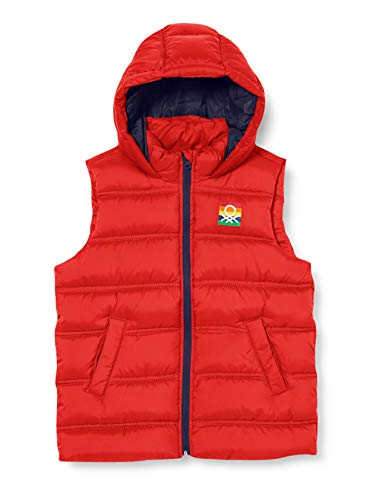 United Colors of Benetton (Z6ERJ) Jungen Gilet Jacke, Rot 015, XL