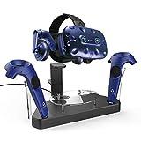 AFAITH Estación de soporte de carga magnética VR para HTC Vive & Pro, Vive Controller Holder, Soporte para auriculares de realidad virtual Vive Pro Charger Dock