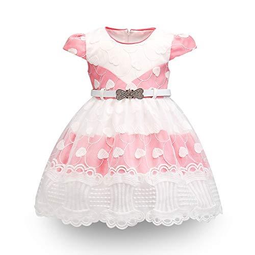 Mama stadt Kleinkind Baby Mädchen Kleid Geburtstag Bowknot Hochzeit Prinzessin Spitzenkleid Festzug Taufkleid Partykleid/70