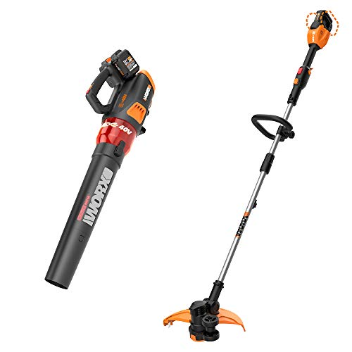 For Sale! WORX WG584 40V Power Share Turbine Cordless Leaf Blower with Power Share 13 Cordless Stri...