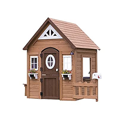 Backyard Discovery Aspen All Cedar Outdoor Wooden Playhouse by Backyard Discovery- Leisure Time Products, Inc. - Dropship