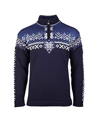 Dale of Norway Herren 140th Anniversary Masc Pullover, Marineblau/Indigo/Off White, XXL