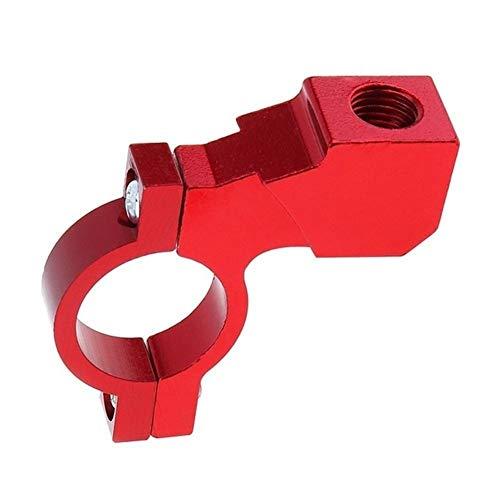 XIAOYUW 7/8' Soporte del Adaptador del Soporte del Montaje del Manillar de la Motocicleta Espejo retrovisor Abrazadera de Aluminio CNC Soportes de Montaje Universal sobre 1pc (Color : Rojo)