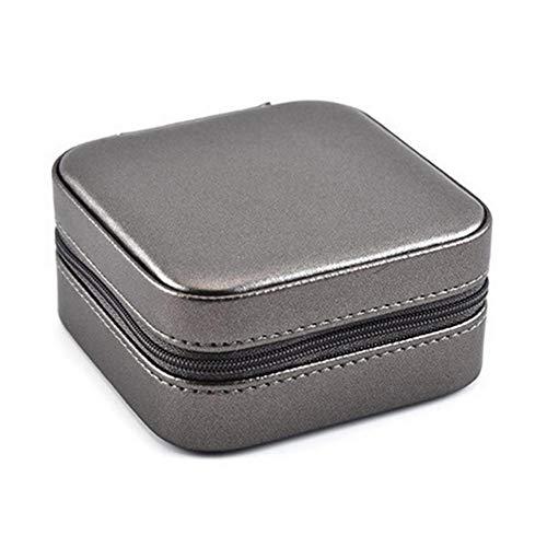 KDABJD Caja de joyería Caja de Almacenamiento portátil Creativa Collar Pendiente Anillo Contenedor de joyería Multifuncional