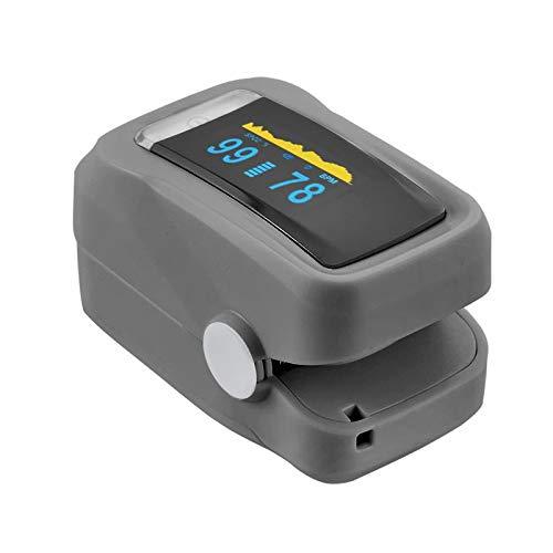 Pulsoximeter PRO+ mit OLED-Display und Alarmfunktion, Fingerpulsoximeter für die Messung des Sauerstoffgehalts im Blut, des Pulsschlags und des Perfusionsindexes, TÜV SÜD zertifiziert