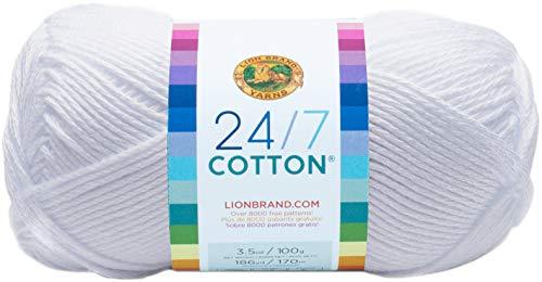 Lion Brand Cotton Yarn, White