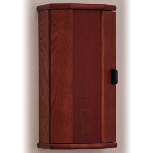 Wooden Mallet Fire Extinguisher Cabinet, 10-Pound, Mahogany/Engraved