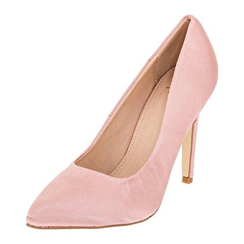 Modische Damen High Heels Pumps Stilettos in Vielen Farben M362rs Rosa 39