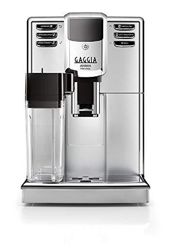 Gaggia RI8762/18 Anima Prestige Automatik Bean to Cup Kaffeemaschine, Silber, Edelstahl, 1850 W