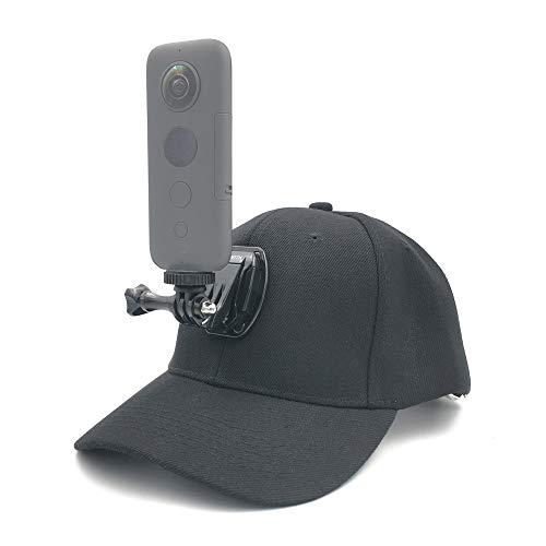VGSION Hat Camera Mount for Insta360 one x/GoPro Hero 8 / Rylo/Garmin VIRB 360/Samsung Gear 360 / Ricoh Theta(Non Sticky Type)