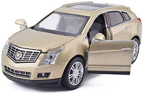 TYZXR Car Model Car 1,32 Cadillac SRX Simulazione in Lega Pressofusione Ornamenti per Giocattoli Collezione di Auto Sportive Gioielli Champagne Oro 14,5x6x5,5 CM (Colore: Bianco)