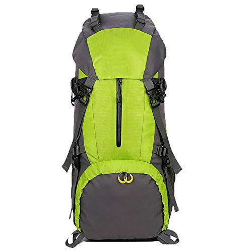 Hiking Outdoor Backpack Travel Bag Waterproof and Wearable Fabric Decompression Sash Easy to Carry, Let You Go Easy Journey for Camping,Green