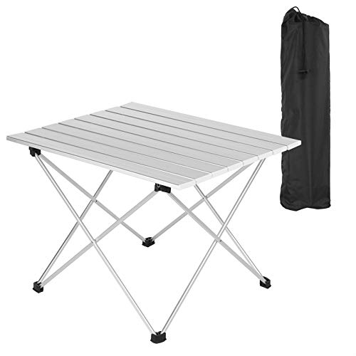 WOLTU Alu Campingtisch klappbar Falttisch mit Tragetasche, Aluminium Reisetisch, leichte Alu Tisch 56 * 46 * 40cm, tragbar für Camping Garten Balkon