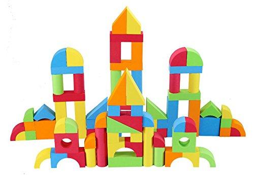 PowerTRC Creative Educational EVA Foam Building Blocks - 131 Pcs (1 Set)