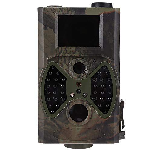 Wildkamera mit bewegungsmelder nachtsicht Tracking-Jagd-Kamera Reconnaissance 1080P 12MP Infrarot-Kamera HC300A Nachtsicht im Freien Hunter Cam Solar Panel Ladegerät ( Color : Only HC300A Camera )