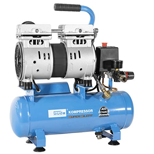 Güde 105/8/6 Silent Kompressor Airpower, 550 W, 230 V, Blau