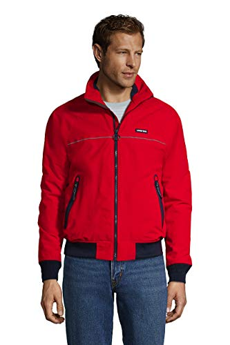 Lands' End Mens Classic Squall Jacket Classic Cherry Regular Small