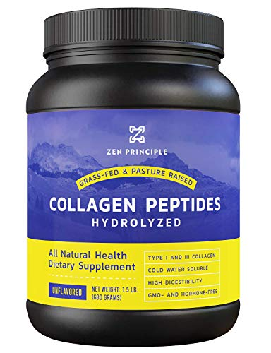 Grass-Fed Collagen Peptides 1.5 lb. Custom Anti-Aging Hydrolyzed Protein Powder for Healthy Hair, Skin, Joints & Nails. Paleo and Keto Friendly, GMO and Gluten Free, Pasture-Raised Bovine Hydrolysate.