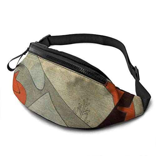 FengLiuAiShuaiGe Pochette de Hanche Fox Print Fanny Pack Fashion Waist Bag,