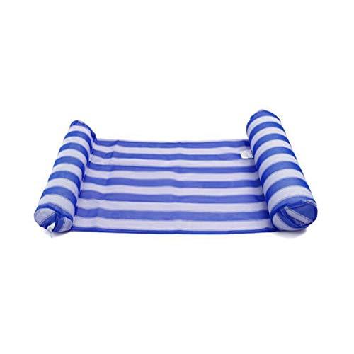 WWJJLL Aufblasbare Hammock, Schwimmbecken Schwimm Hammock, bewegliches Pool Deck Chair Schwimm Hammock Schlauchboot Schwimm Stuhl für Erwachsene und Kinder,Blau