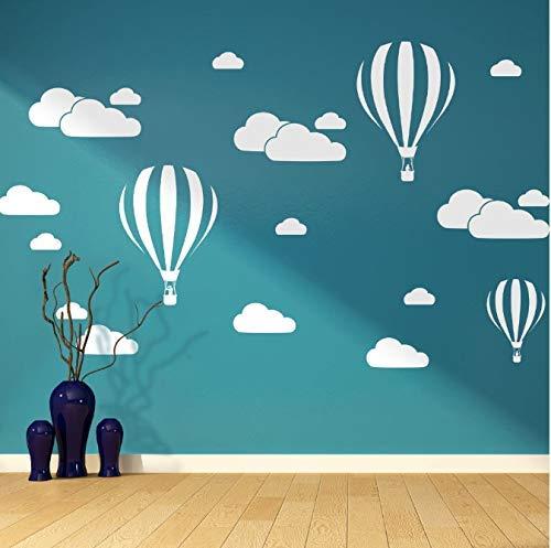 Cloud Helium Ballon Muurstickers voor Kinderkamers Vinyl Home Decor Kwekerij Decoratie Slaapkamer DIY Mural Verwijderbare Cartoon 42 * 30Cm
