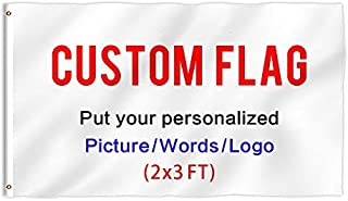 KafePross Custom Outdoor Flag 2X3 FT Use Your Personalized Picture Text or Logo to Customized Gifts Print One Side