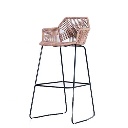 Feng Lian Wicker Chair High en stoelen Outdoor bar tafel en stoelen barkruk bar front Desk Chair rotan hoge stoel vrije tijd balkon stoel