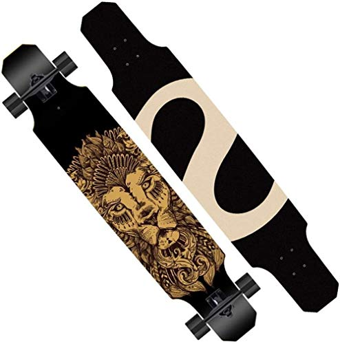 Woodtree Skateboard Longboards Skateboards 119,4 cm Full Deck Drop Down Through Cruiser Longboard Professional, Carving, Freestyle, Dance, Drop, Farbe: E e