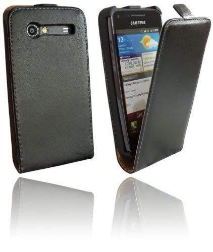 ENERGMiX Klapptasche kompatibel mit Samsung Galaxy S Advance i9070 in Schwarz Tasche Hülle