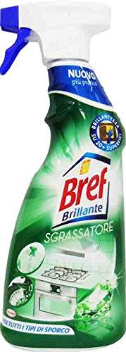 8 x BREF Brillante Cucina Sgrassatore Spray 750 Ml