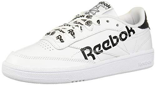 Reebok Damen Club C 85 Turnschuh, Sneaker Head-White/Black, 37 EU