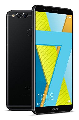 Honor 7X - Smartphone Android 7.0 (pantalla infinita 5,93' 18:9, 4G, cámara 16MP+2MP, 4GB RAM, 64GB almacenamiento, procesador Kirin 659 Octa-core), negro