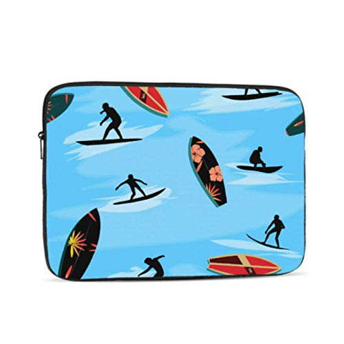 Laptop Shell Colorful Interesting Seaside Surf Laptop Pro Accessories Multi-Color & Size Choices10/12/13/15/17 Inch Computer Tablet Briefcase Carrying Bag