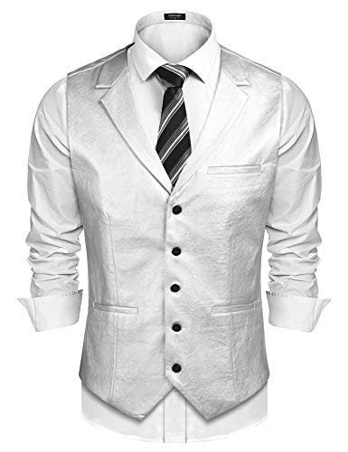 Men's Silver Leather Jacket