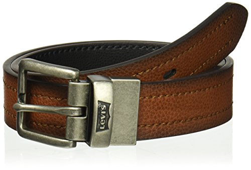 Levi's Big Boy's Reversible Jean Belt with Contrast Stitch , tan/black, Small