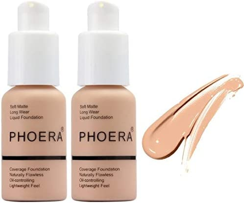 2Pack PHOERA Foundation Full Coverage Foundation Concealer Foundation Full Coverage Flawless product image