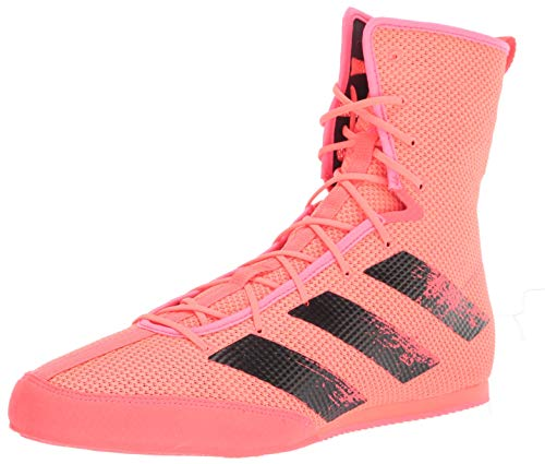 adidas Hog 3 Boxing Shoe, Signal Pink/Black/Copper, 8 US Unisex Big Kid