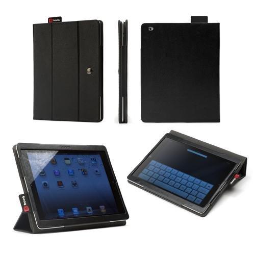 Booq FLI3-BLS - Funda Folio de Piel para Apple iPad 2/3, Negro