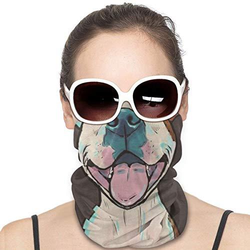 Pit Bull Caricatura Pit Bull Sonrisa Windproof Face Shield Multiusos Headwear Bandana Pasamontañas Cuello Polainas
