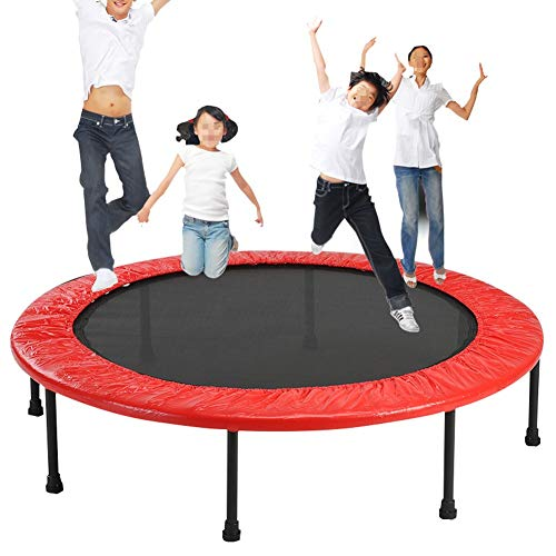 JXJJD Mini Trampoline Fitness Adults Folding, Silent Trampoline Jumping Fitness for Children and Adults Cardio Trainer Workout Maximum Weight: 120KG