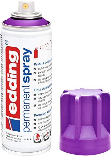 edding 5200-910 - Spray de pintura acrílica de 200 ml, secado rápido sin burbujas, color arándano mate