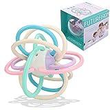 CestMall Baby Rassel und sensorische Beißring Ball, Greifspielzeug Beißringen aus flexiblem, leicht zu greifendem Material mit Silikon-Zehne für Kleinkind Jungen Mädchen BPA-freie