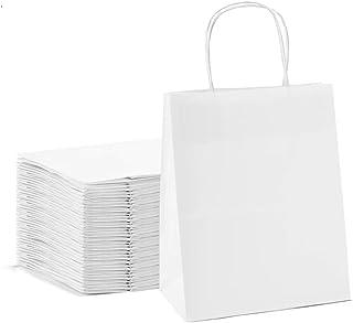 Kraft Paper Bag White Twisted Handle 28x22x12 cm Paper Party Bags Hen Party Bags Kraft Paper Bag Bride Birthday Gift Bag W...