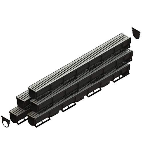 Spark1 Canaleta de Drenaje con Rejilla de Acero galvanizado Kit 5 Metros