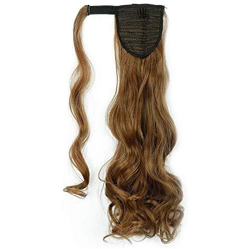 Queue de Cheval Extension de Cheveux Synthétique Ondulé - Wrap Around Ponytail Clip in Hair Extensions - 24 pouces - 12W