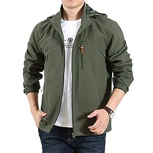 Superora ウインドブレーカー ジャンパー メンズ ジャケット アウトドア 軽量 防風 ブルゾン 大きいサイズ カジュアル